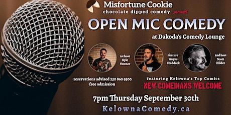 Misfortune Cookie presents Open Mic Comedy at Dakoda's tickets