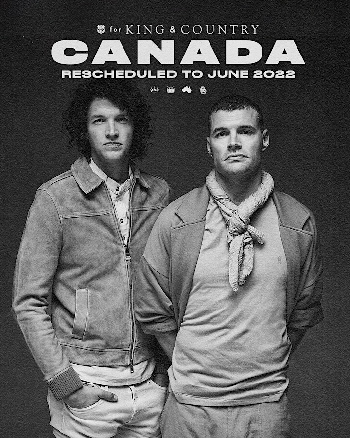 *postponed to June 2022* Edmonton Matinee - for KING & COUNTRY image