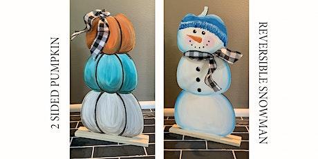 2 Sided Reversible Pumpkin Snowman Paint and Sip Art Class Wadsworth tickets