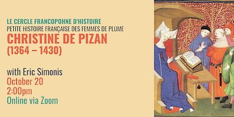 Le Cercle Francophone d'Histoire: Christine de Pizan tickets