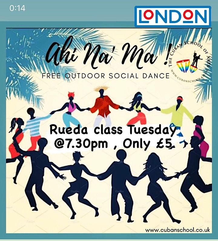 Salsa class- Tuesday outdoor  with International Cuban Teacher image