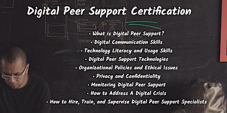 Digital Peer Support tickets