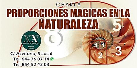 """Charla """"proporciones mágicas en la naturaleza"""" entradas"""