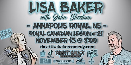 Lisa Baker - Right Saucy Comedy - Annapolis Royal, NS tickets