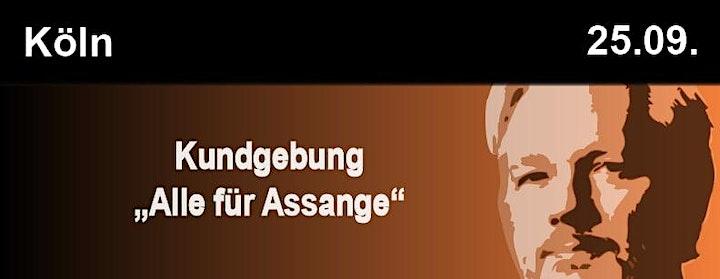 Alle für Assange Kundgebung Köln image