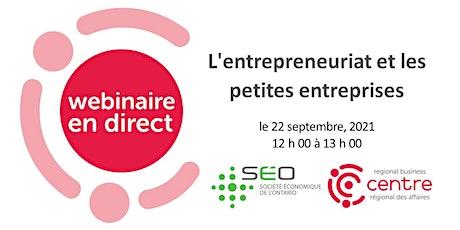 L'entrepreneuriat et les petites entreprises billets