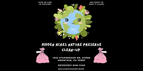 Hidden Acres Nature Preserve Clean-Up tickets