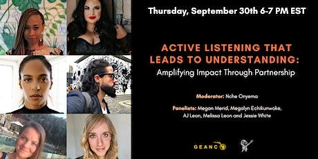 Active Listening:  Amplifying Impact Through Partnership tickets