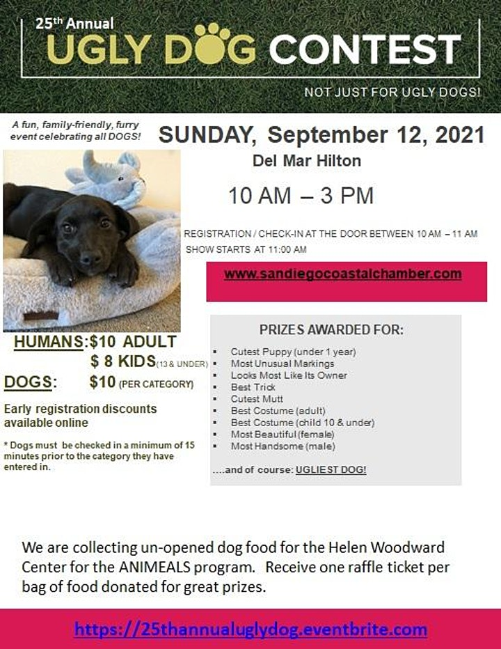 """25th Annual """"NOT JUST FOR UGLY DOGS"""" Contest image"""