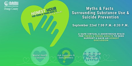 Myths & Facts Surrounding Substance Use and Suicide Prevention For Teens/YA tickets