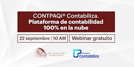 CONTPAQi® Contabiliza. Plataforma de contabilidad 100% en la nube. boletos