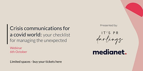 Crisis Communications for a Covid World tickets