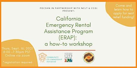 California Emergency Rental Assistance Program: how-to workshop tickets