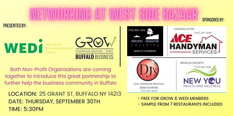 Networking at West Side Bazaar Presented by WEDI & GROW Buffalo tickets