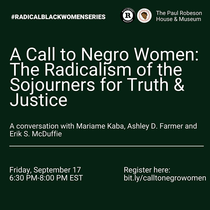 A Call to Negro Women: The Radicalism of the Sojourners for Truth & Justice image