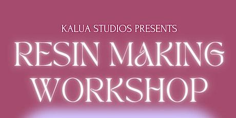 Resin Making Workshop | Kalua Studios tickets