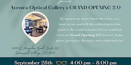 Avenira Optical Gallery's Grand Opening 2.0! tickets