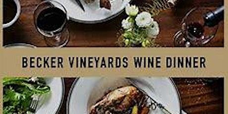 Becker Vineyards VIP Dinner tickets