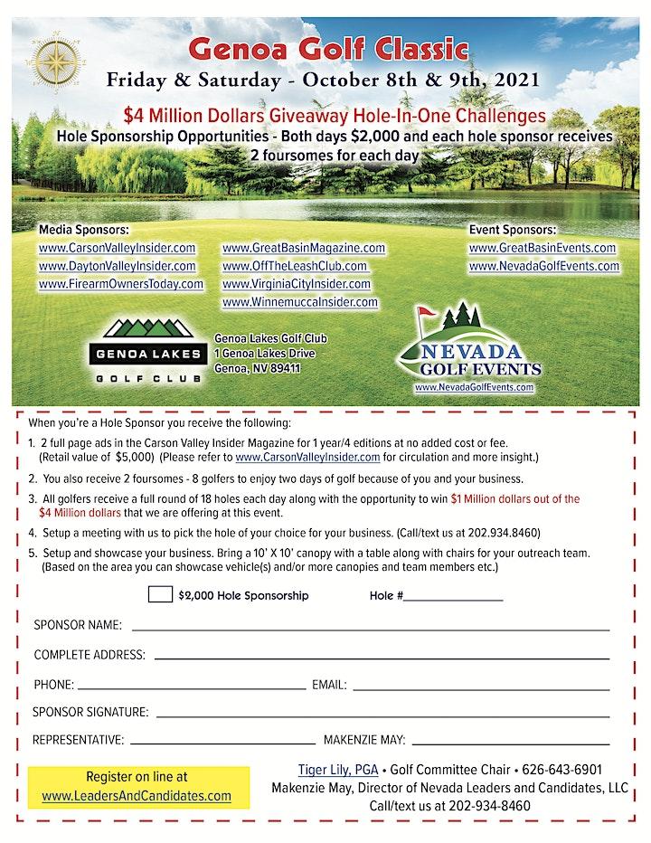 Genoa Golf Classic October 8th & 9th, 2021 image