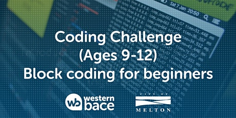 Coding Challenge (Ages 9-12) – Block Coding for beginners tickets