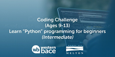 """Coding challenge (Ages 9-13) –  Learn """"Python"""" programming for beginners tickets"""