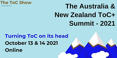 ToC Global - The Australia & New Zealand ToC Summit  (2021) tickets