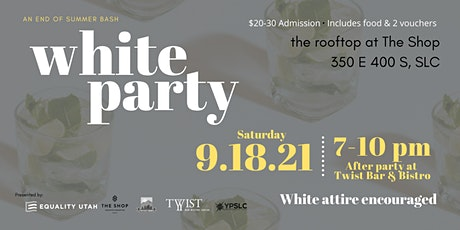 White Party - End of Summer Rooftop Party @ The Shop tickets