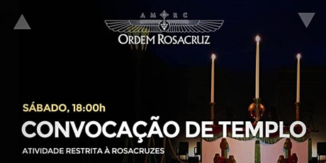 Convocação Ritualística de Templo -  18  de setembro de 2021 ingressos