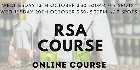 RSA course tickets