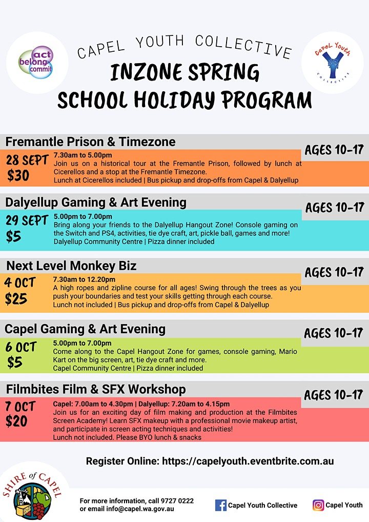 Inzone- Fremantle Prison &  Timezone Day Trip image