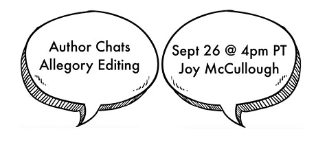 Allegory Editing Author Chats: September 26th—Joy McCullough tickets