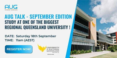 [AUG Talk]  Study at University of Southern Queensland tickets