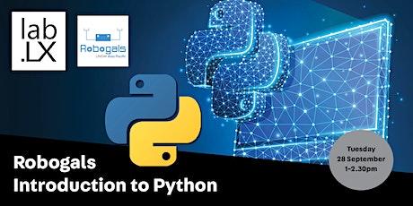 WEBINAR: Robogals - Introduction to  Python tickets