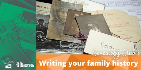Genealogy Club: Writing your family history tickets