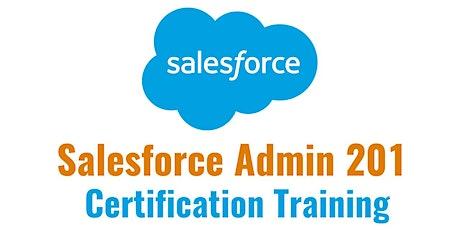 Salesforce ADM 201 Certification 4 Days Training in Evansville, in tickets