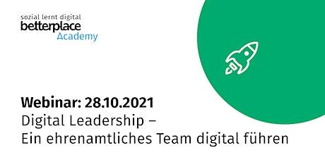 Webinar: Digital Leadership – Ein ehrenamtliches Team digital führen Tickets