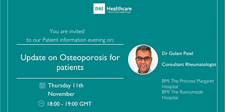 Update on Osteoporosis for patients tickets