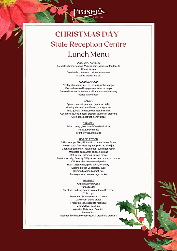 Christmas Lunch at Fraser's  State Reception Centre image