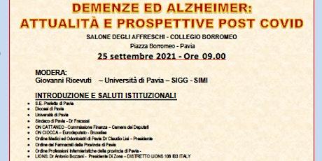 Demenza ed Alzheimer: attualità e prospettive post Covid biglietti