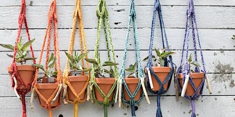Make Your Own Macramé Plant Hanger tickets