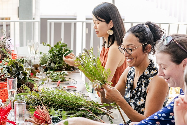 Christmas Wreath Workshop with Helena Rose & The Deli - Redcliffe image
