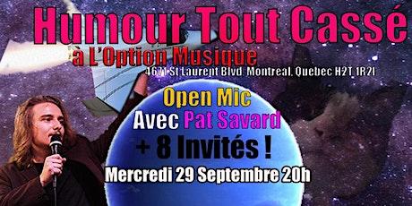 L'Humour Tout Cassé Chez  L'Option Musique IV billets
