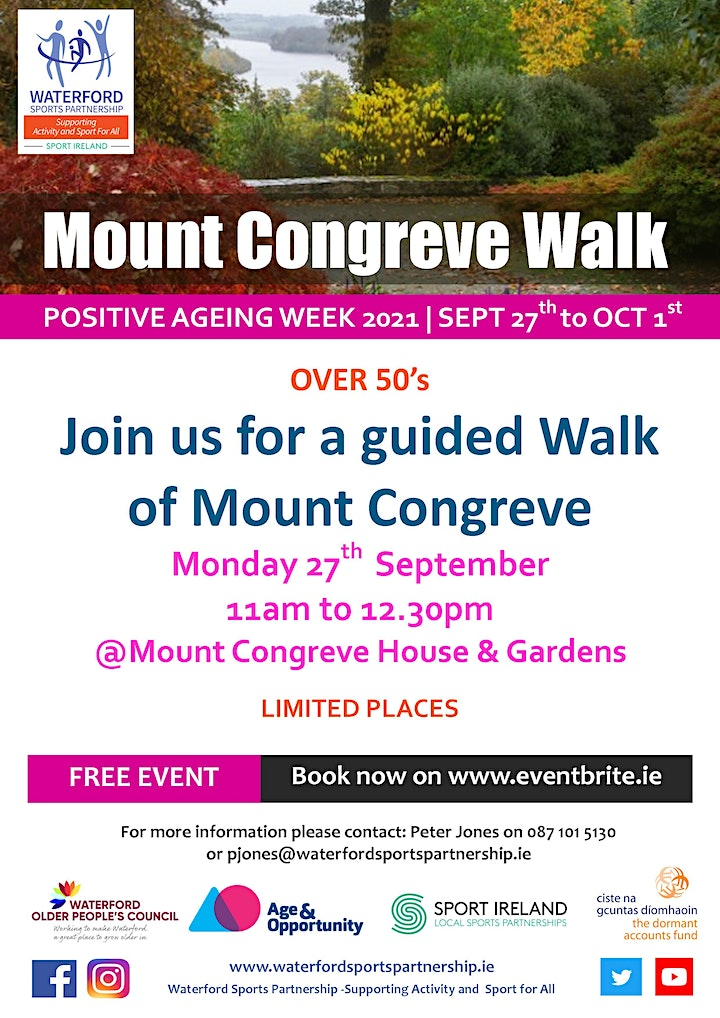 Positive Ageing Week -  Mount Congreve guided walk image