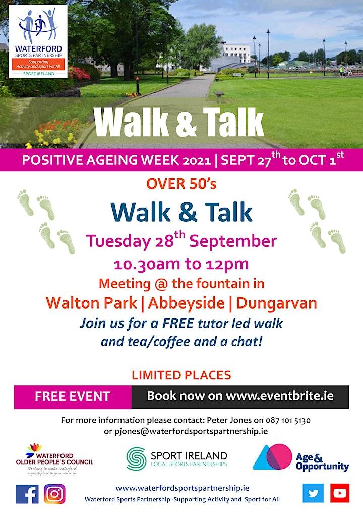 Positive Ageing Week -  Walk and Talk Dungarvan image