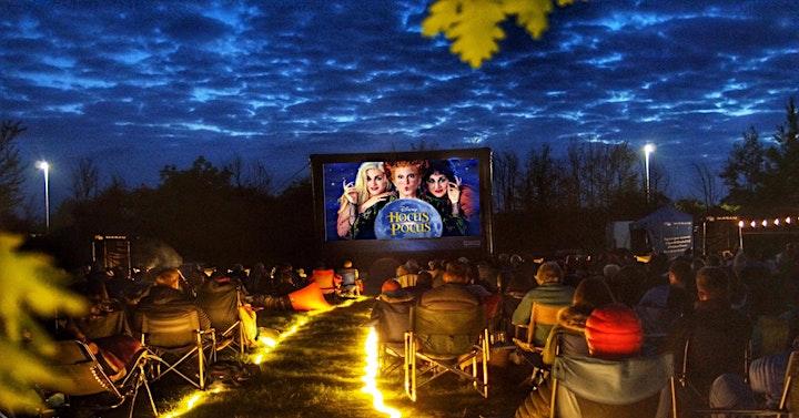 Halloween showing of Hocus Pocus on Stafford's Outdoor cinema image