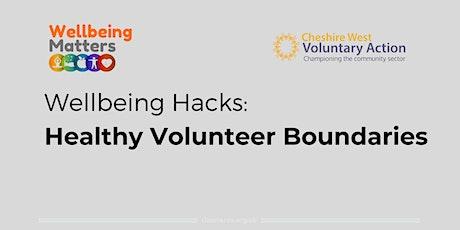 Wellbeing Hacks: Healthy Volunteer Boundaries tickets