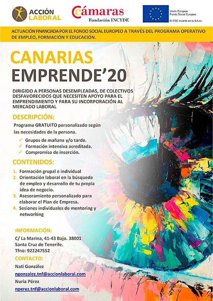 Imagen de Canarias Emprende 20 - Jornada informativa