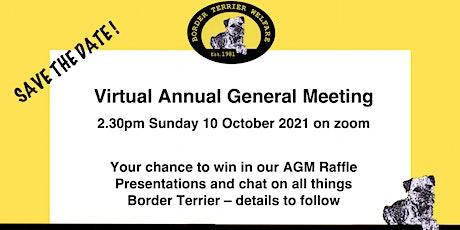 Border Terrier Welfare virtual AGM 2021 tickets