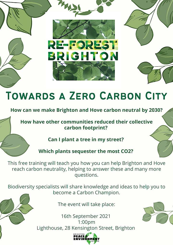 ReForest Brighton - towards a zero carbon city image