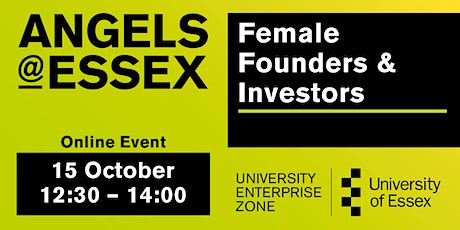 Angels@Essex - Female Founders and Investors October 2021 tickets